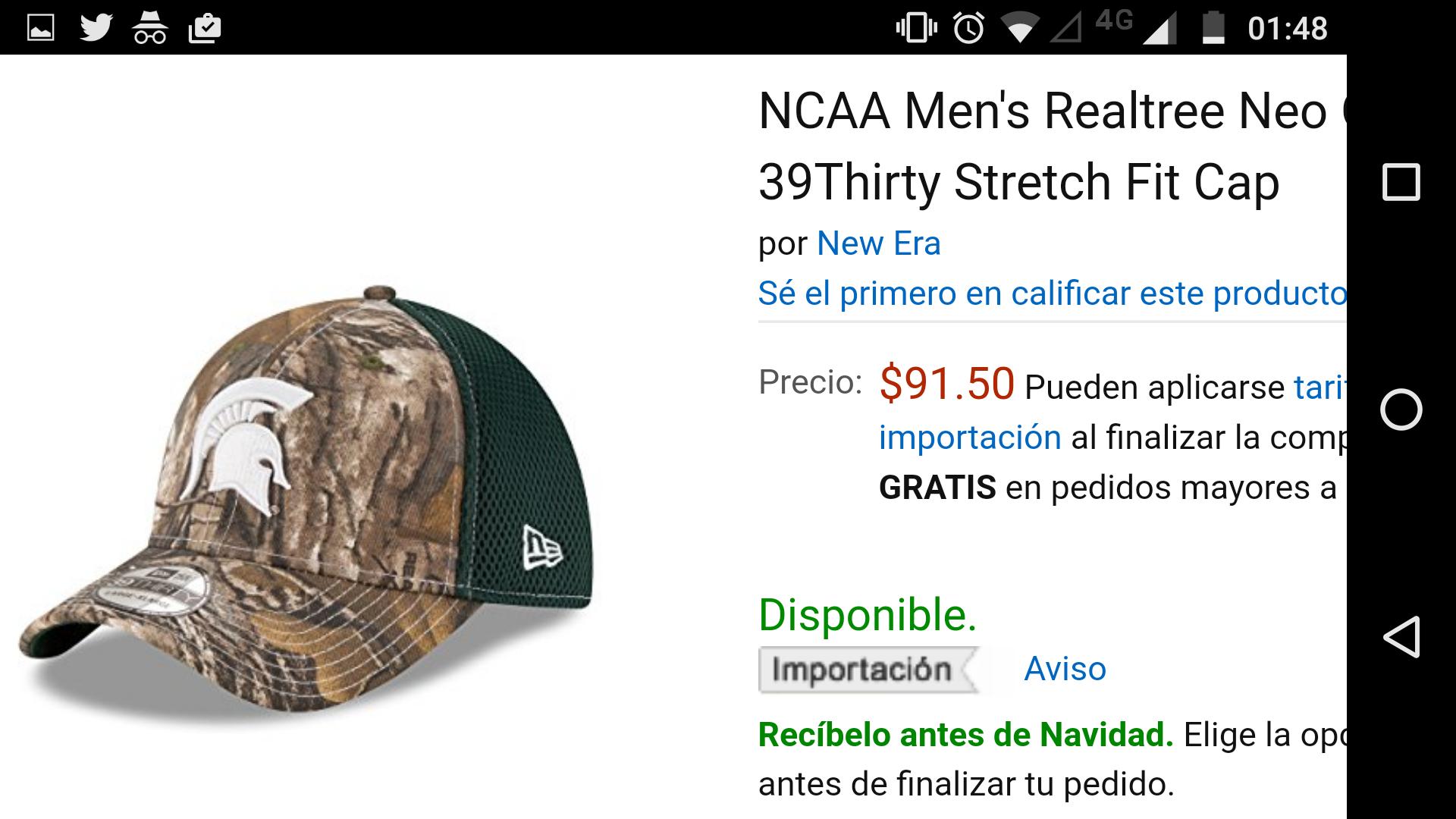 Amazon: gorras New Era 3930 Realtree de la NCAA desde $91.50