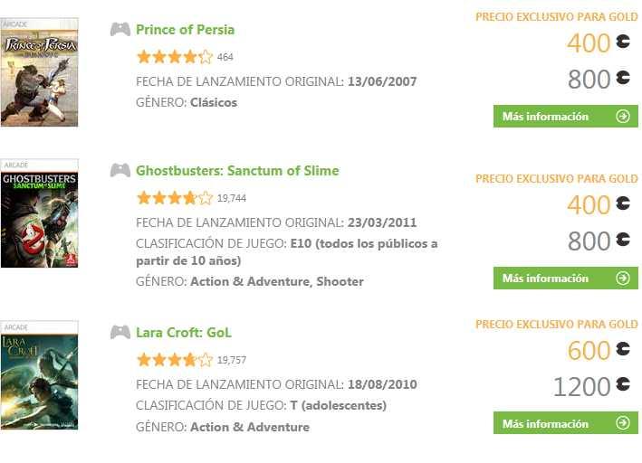 Oferta de la semana Xbox Live: Prince of Persia, Ghostbusters y Lara Croft al 50%