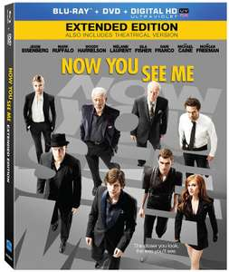 Amazon: Now You See Me [Blu-ray + DVD + Digital]