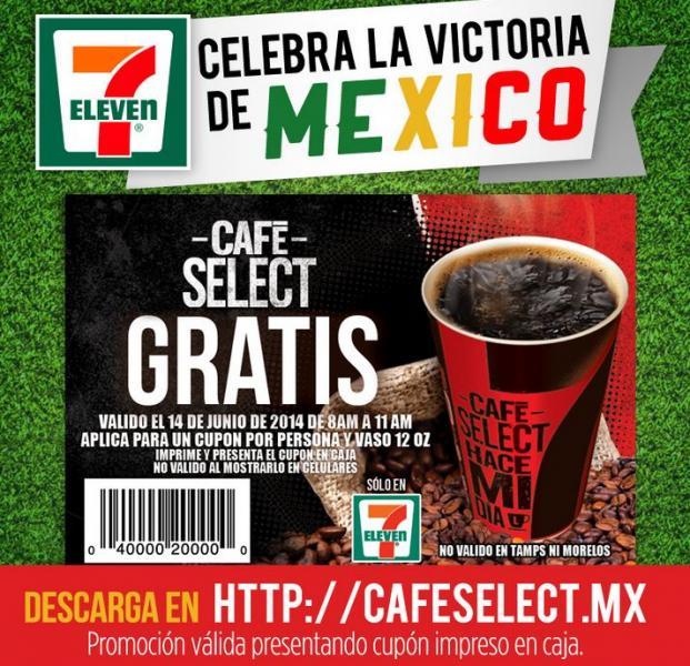 7 Eleven: café select gratis mañana