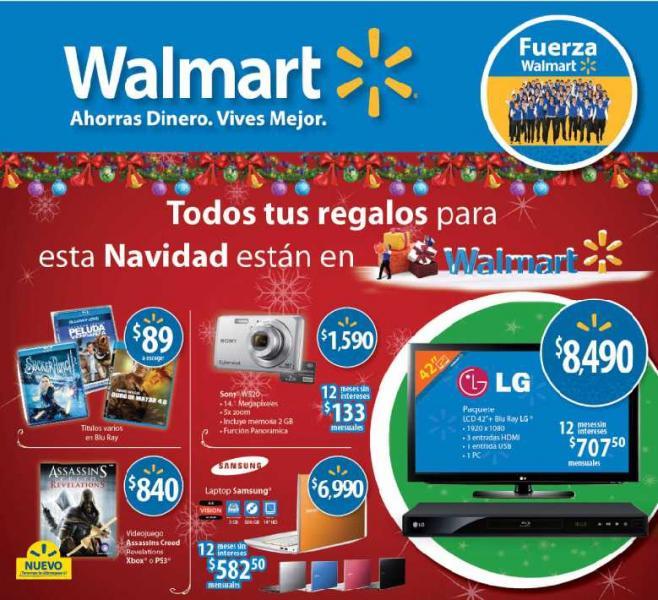 """Folleto Walmart: pantalla LCD 42"""" y reprodcutor Blu-ray LG $8,490 y más"""