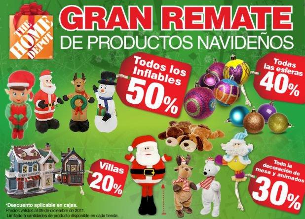 Home Depot: Gran remate de productos navideños
