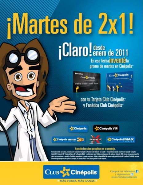 Cinépolis: martes de 2x1 incluyendo VIP, 3D y IMAX con tarjeta Club Cinépolis