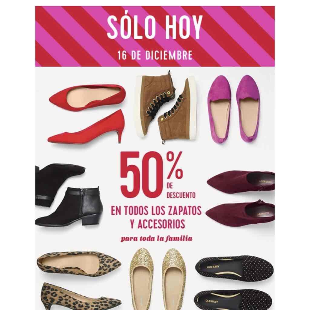Old Navy: Zapatos y Accesorios al 50%