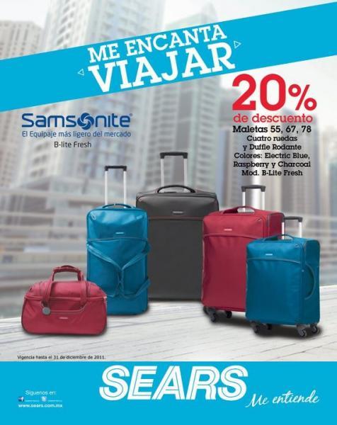 Sears: gratis foto con Santa con compra y 20% de descuento en maletas