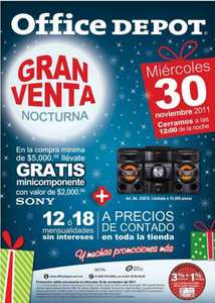 Venta Nocturna Office Depot noviembre 30 (actualizado)