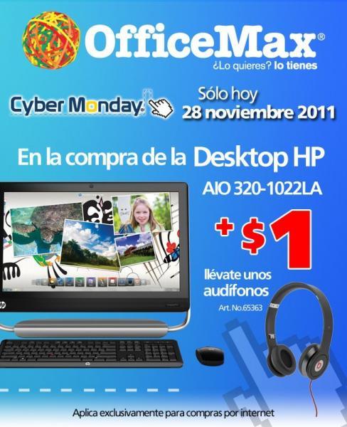 OfficeMax Cyber Monday: $1 iPod Shuffle al comprar iMac, Macbook Pro o Air, 10% en cámaras Fuji y más
