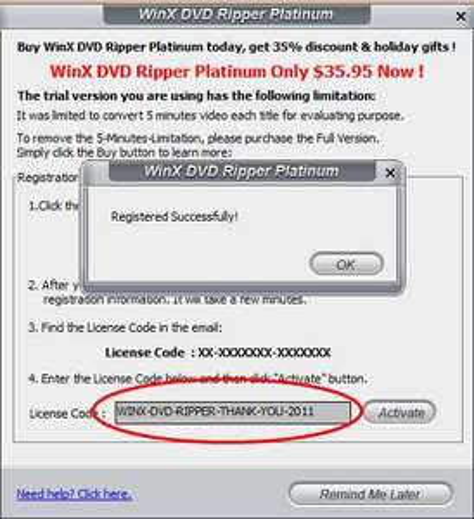 WinX DVD Ripper Platimun Gratis!