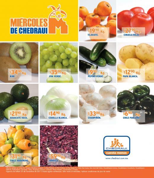 Miércoles frutas y verduras Chedraui noviembre 23: manzana $9.90 kg, espinaca 90 centavos y más