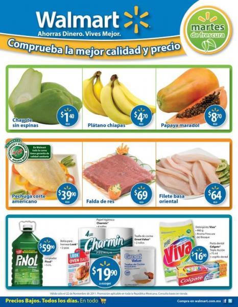 Martes de frescura Walmart noviembre 22: chayote $1.40, plátano $4.70 y más
