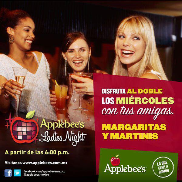 Applebees: miércoles de Ladies Nigh