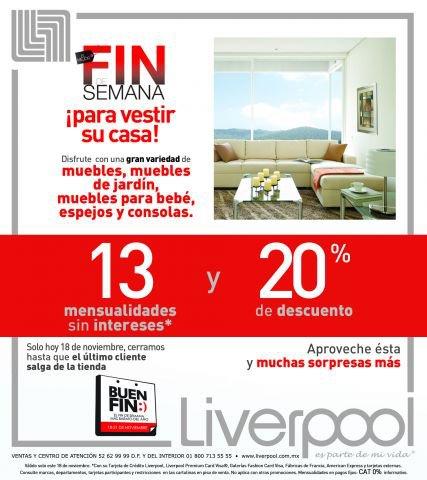 Ofertas del Buen Fin en Liverpool en ropa, hogar y tecnología