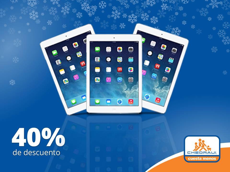 Chedraui: 40% de descuento en iPad + 3G  (mod. Air 1)