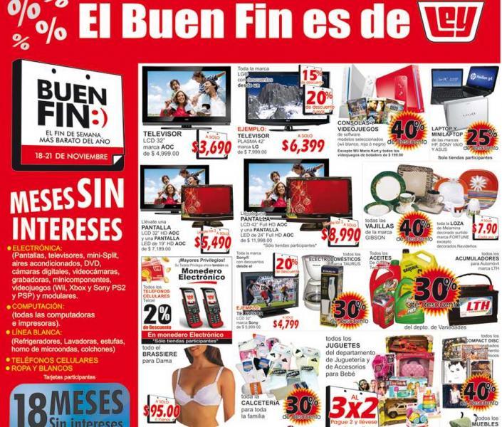 Ofertas de Ley del Buen Fin: 3x2 en juguetes, 40% en videojuegos, descuentos en pantallas y más