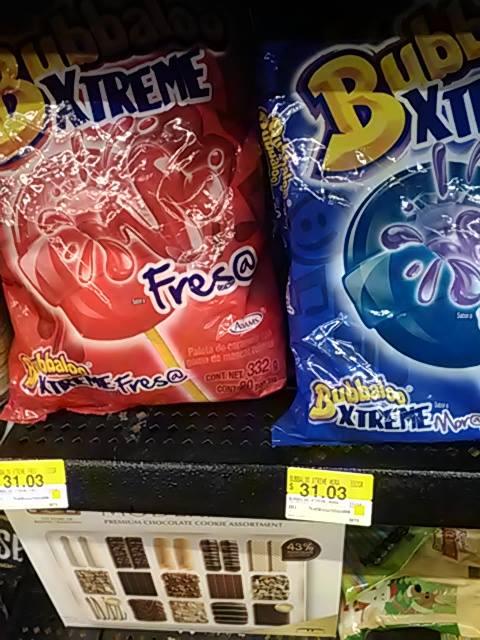 Walmart: Bubaloo bolsa paletas $31 pesos