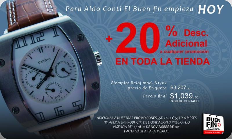 Ofertas del Buen Fin en ropa y zapatos. Aldo Conti, C&A y Capa de Ozono
