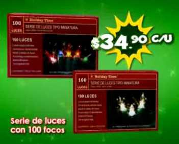 Ofertas del Buen Fin en Bodega Aurrerá: árbol de navidad 1.6 m $99 y luces $34.90