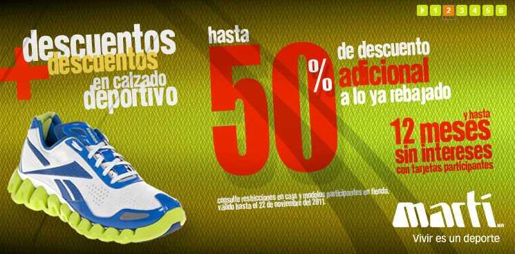 Martí: hasta 50% de descuento adicional en tenis y 50% en ropa de playa, trajes de baño