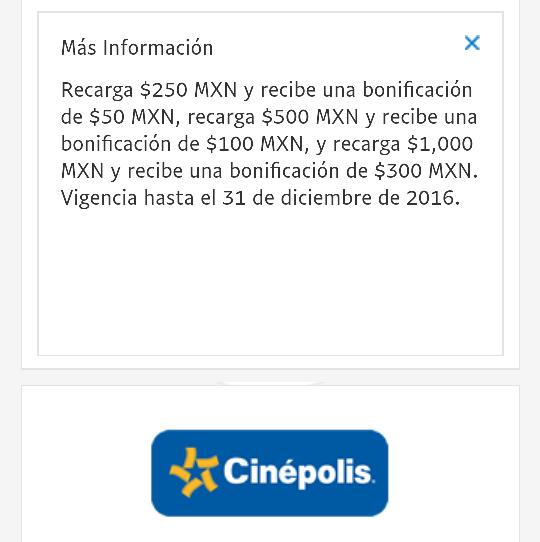 Cinépolis Cinecash: Hasta 30% de bonificación recargando con PayPal