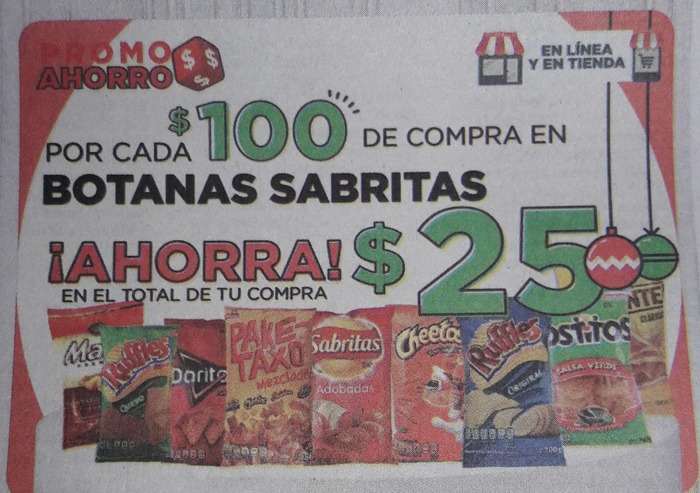 HEB: $25 por cada $100 en Botana Sabritas, whisky y 12 pack cerveza por $149