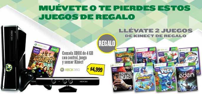 Best Buy: 2 juegos gratis en la compra de Xbox 360 con Kinect