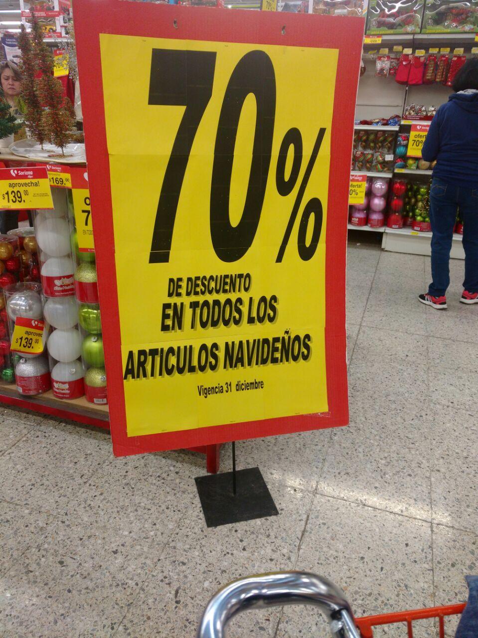 Soriana Hiper: 70% de descuento en artículos Navideños