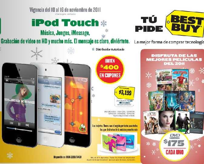Folleto Best Buy noviembre 10: 30% de descuento en cámaras Fuji, $400 en cupones con iPod Touch y más