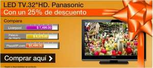 "Plaza VIP: pantalla LED Panasonic 32"" a $5,499 y 12 MSI"
