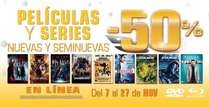 Blockbuster: 50% de descuento en películas y series nuevas y seminuevas x internet
