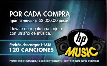Tienda HP: hasta 120 canciones gratis con tu compra y envío gratis