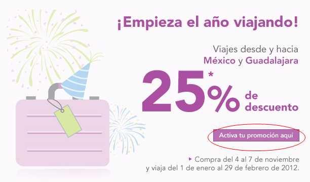 Volaris: 25% de descuento desde y hacia Guadalajara y DF