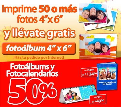 Soriana: 50% de descuento en fotoálbums y calendarios o gratis con 50 fotos