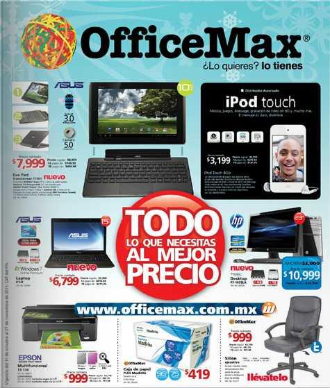 Folleto OfficeMax noviembre: multifuncional gratis con laptop y más ofertas