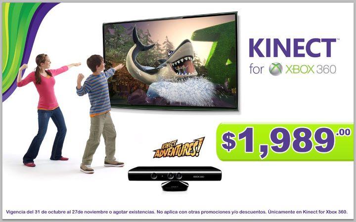 Varias tiendas: Kinect baja de precio
