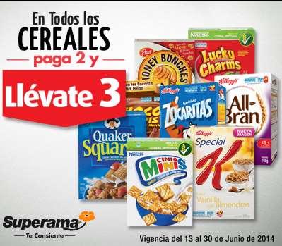 Superama: 3x2 en cereales