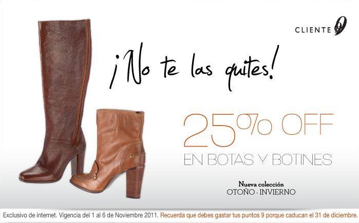 Nine West: 25% de descuento en botas y botines y envío gratis.