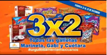 Chedraui: 3x2 en todas las galletas Marinela, Gabi y Cuétara