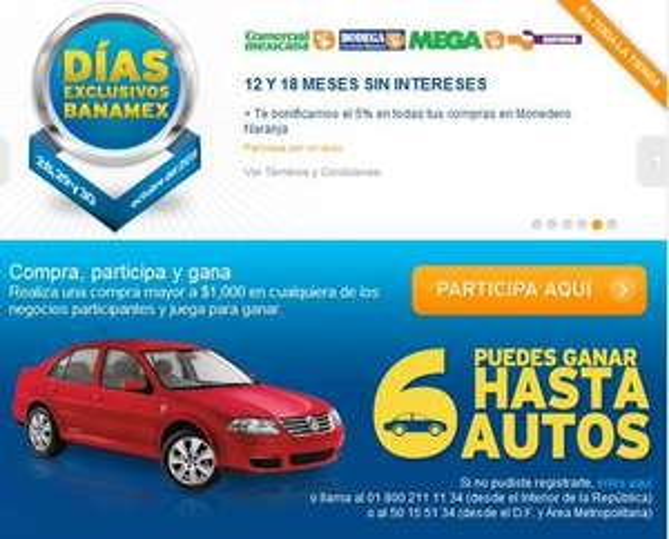 Días exclusivos Banamex Comercial Mexicana: 18 MSI y 5% de bonificación en monedero