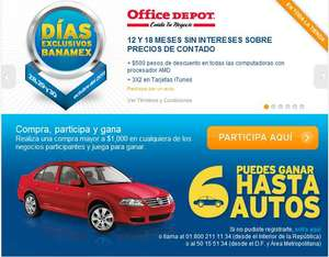 Días exclusivos Banamex Office Depot: 3x2 en tarjetas iTunes, MSI y más