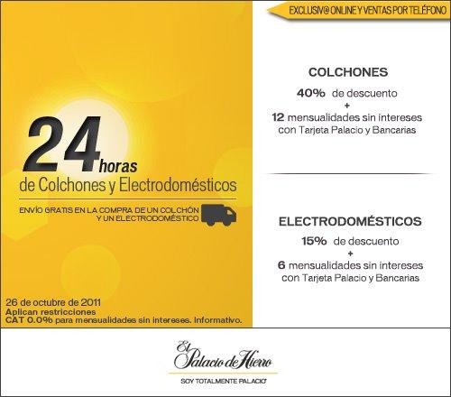 Palacio de Hierro: 40% de descuento y 12 meses sin intereses en colchones, 15% y 6 MSI en electrodomésticos