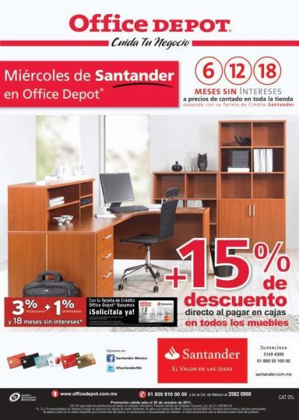 Office Depot: 15% de descuento en muebles y 18 MSI en toda la tienda con Santander