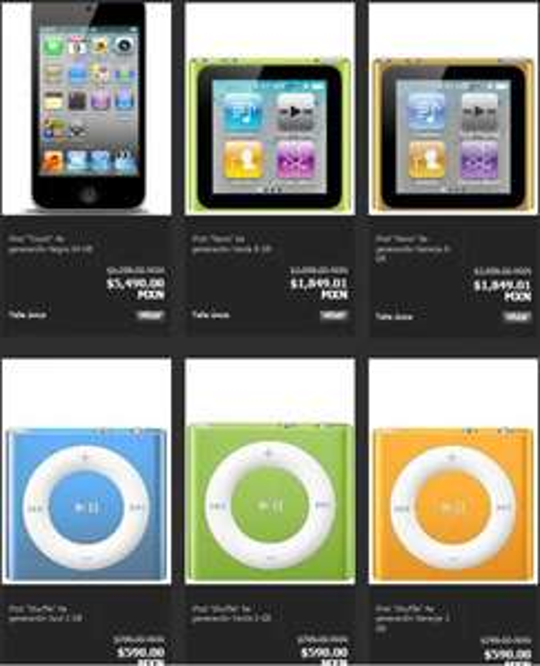 Privalia: descuentos en iPod Touch, iPod Nano, iPod Shuffle y iPod Classic
