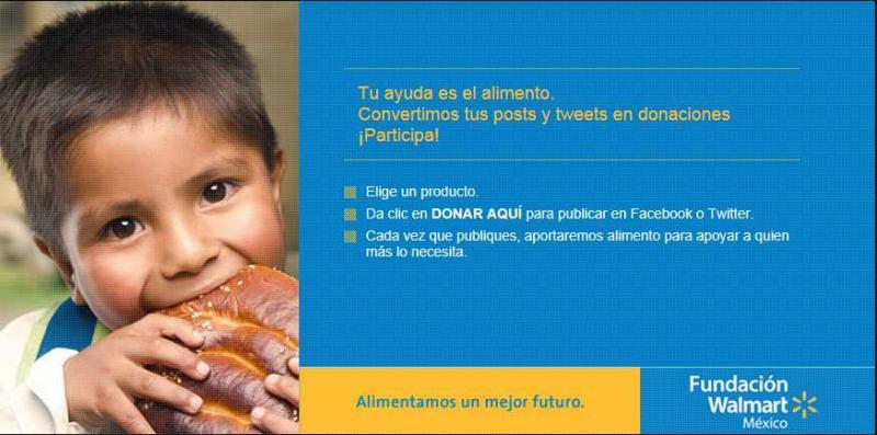 Tu ayuda es alimento: dona comida gratis sólo con clic en facebook o Twitter