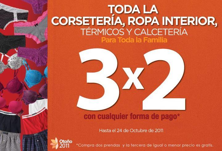 Suburbia: 3x2 en corsetería, ropa interior, calcetería y térmicos