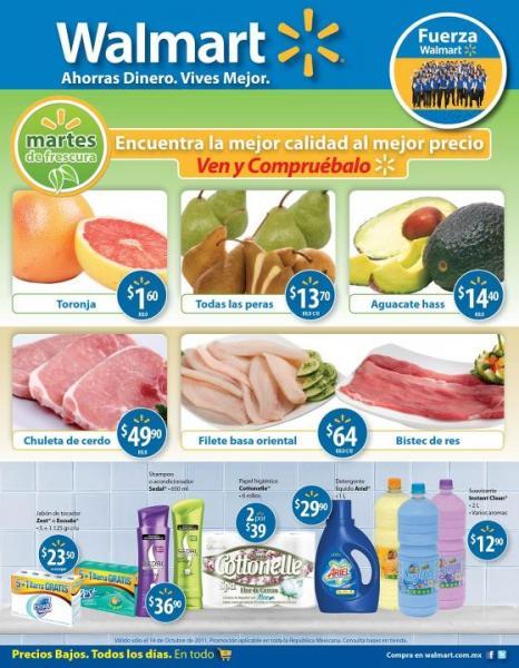 Martes de Frescura Walmart octubre 18: toronja $1.60, aguacate $14.40 y más