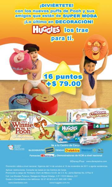 Huggies: silloncitos de Winnie Pooh con 16 puntos y $79