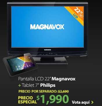"Walmart: pantalla LCD 22"" y tablet 7"" $990"