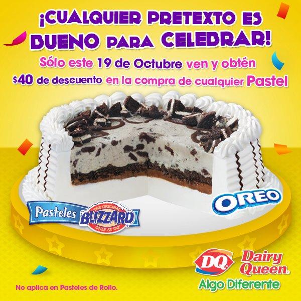Dairy Queen: $40 de descuento en pasteles este miércoles