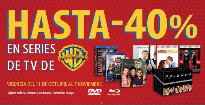 Blockbuster: hasta 40% de descuento en series de Warner