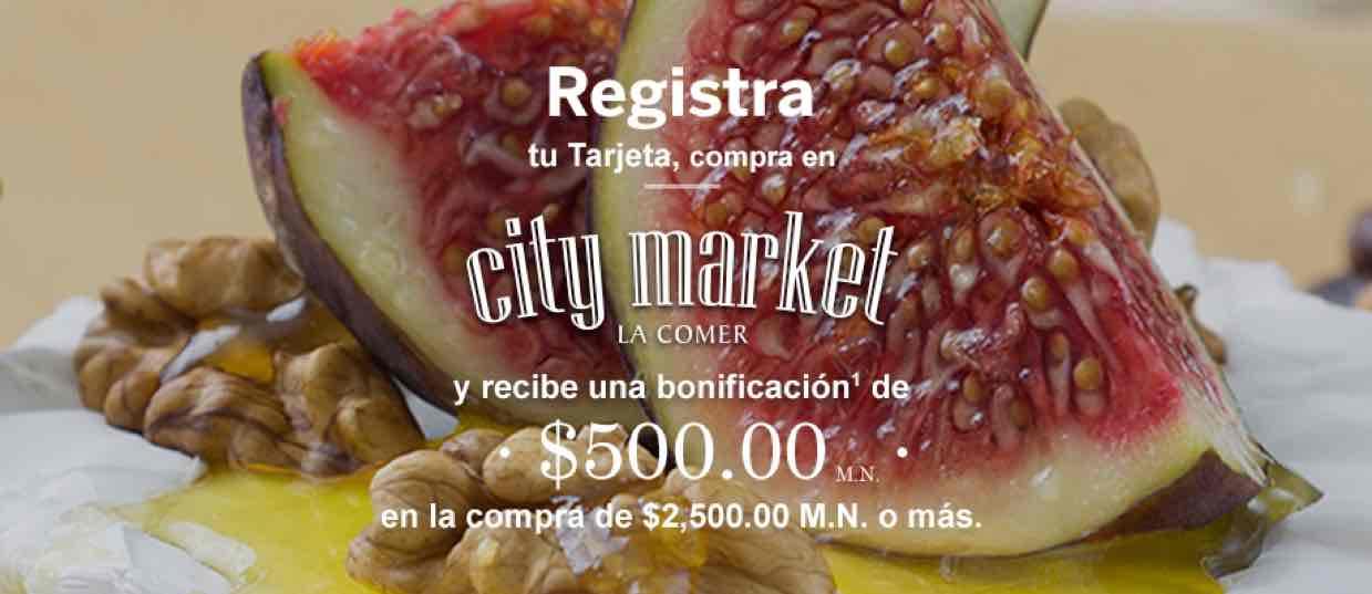 City Market: $500 de bonificación en compra mínima de $2,500 con Américan Express ( se necesita registro)